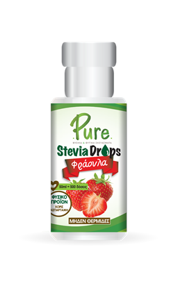 Picture of Υγρή Στέβια Με Γεύση Φράουλα Pure Stevia Drops Strawberry