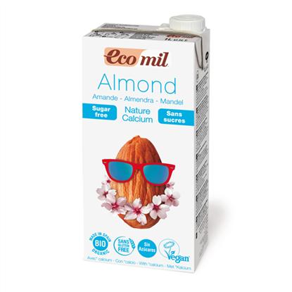 Picture of Ecomil Γάλα Αμυγδάλου με ασβέστιο χωρίς ζάχαρη 1L