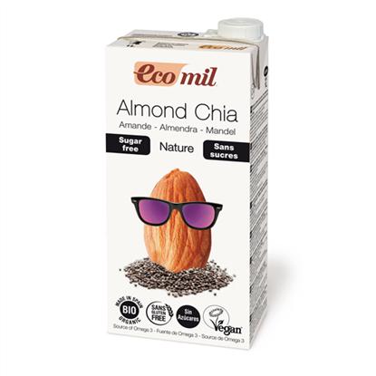 Picture of Ecomil Γάλα Αμυγδάλου με Chia χωρίς ζάχαρη 1L